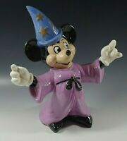 MICKEY MOUSE SORCERER WALT DISNEY PRODUCTION CERAMIC FIGURINE VINTAGE 10'' RARE