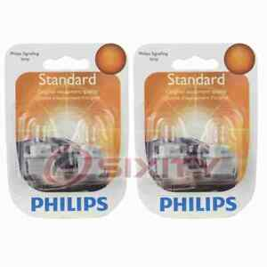 2 pc Philips PC194B2 Instrument Panel Courtesy Light Bulbs for Electrical pj