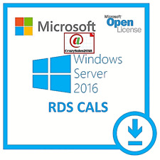 Windows Server 2016 Standard Remote Desktop Services 50 User Cal's  Download+@¬