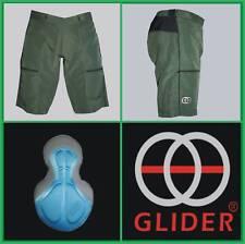 GLIDER Trail/Mountain bike Shorts w/pad Green (Medium) >>CLEARANCE<<