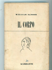 SANSOM WILLIAM IL CORPO GARZANTI 1951 I° EDIZ. VESPA BLU 33