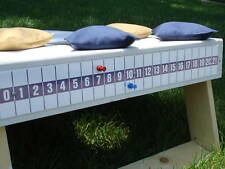 Cornhole Game Bag Toss Blue Scoreboard Magnetic Attach On Your Board Made in USA