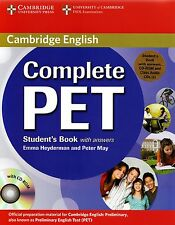 Cambridge COMPLETE PET Student's Book with Answers+CD-ROM +Class Audio CDs @NEW@
