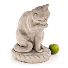 Steinfigur Gartenfigur Tierfigur 43cm 24kg Katze Statue Steinguss Gartendeko
