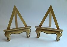 (2) Plastic Gold Antiqued Painted Easels Display Pictures Photos Paintings
