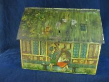 33066 Old Vintage Antique Advertising Tin Advert Sign Biscuit Figural House Toy