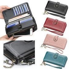 Women's Leather Wallet Clutch Organizer Checkbook Card Holder Coin Pocket Purse