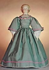 """15-16""""ANTIQUE CHINA HEAD/PARION FRENCH LADY DOLL@1850's DRESS UNDERWEAR PATTERN"""