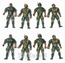 8 pcs Military Green Action Figures Plastic Toy Soldiers Army Men