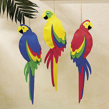 "3 JUMBO 21"" PARROTS Hawaiian Luau Tropical Beach Wedding Decor PARTY FAVORS"