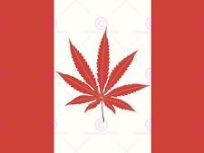La PITTURA Bandiera Canada Cannabis Erbaccia Foglia Cool poster stampa LV10536