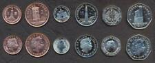 ISLE OF MAN COIN SET 1+2+5+10+20+50 Pence 2008 UNC UNCIRCULATED LOT of 6