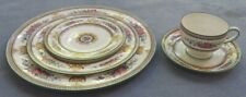 Wedgwood Columbia Multi Color Salad 5 Pc Place Setting Green Mark