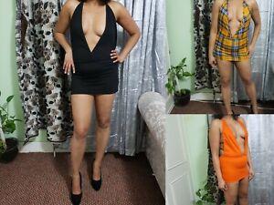 Micro Mini Dress Backless Sleeveless Women's Short High Waist Ladies Girls 6-24