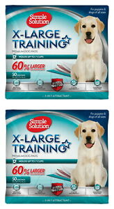 Simple Solution Training Pads for Dogs, Extra Large, 50 Count, 2 Pack