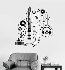 Vinyl Wall Decal Electric Guitar Player Musician Rock Music Stickers (1514ig)