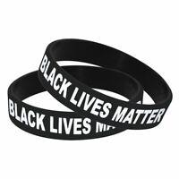 10 Black Lives Matter BLM Silicone Wrist Band Bracelet Wristband