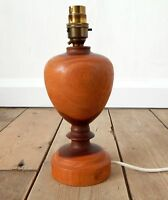 Vintage Mid Century Wooden Table Lamp Light Base Wood Retro Working #B