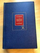 Modern Library Sappho Manon Lescaut & Carmen by Daudet
