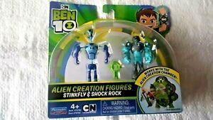 STINKFLY & SHOCK ROCK BEN 10 Alien Creation Figures 2 Pack 76782,Rare