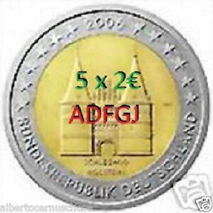 5 x 2 euro 2006 ADFGJ Germania Holstentor Germany Allemagne Deutschland Alemania