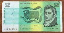 $2 Aust Banknote pen mark otherwise FINE last prefix LQG968484