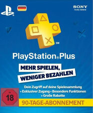 Sony PlayStation Plus 90 Tage Abonnement Karte