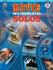 """MOVIE INSTRUMENTAL SOLOS"" TRUMPET MUSIC BOOK/CD-BRAND NEW ON SALE-PLAY-ALONG!!"
