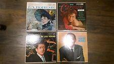 LOT of 4 orig. OPERA LPs. RCA Victor  Bizet Carmen, La Boheme, MERRILL & PEERCE