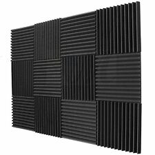 "Room Sound Striped Absorption Treatment Acoustic Foam Wall Panels 12""X12""X1"" usa"
