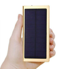 100000mAh Dual USB Solar Power Bank Panel Portable Pack Charger for Mobile Phone