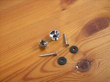 2 Gurt Pins in Chrom / 1 Paar Gurtpins + Schrauben + Unterlegscheiben - Neu