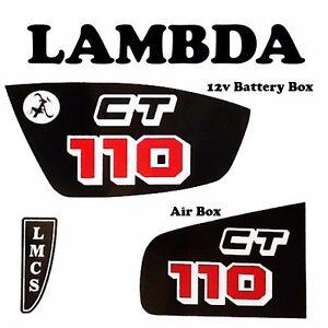 Aftermarket Sticker Kit for 12v Honda CT110 Posties - Battery Box & Air Box