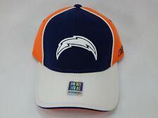 Los Angeles Chargers Reebok Fashion Flex Fit One Size Cap Hat Navy White Orange