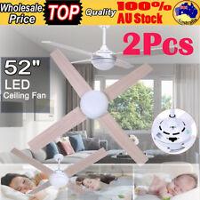 2Pcs 52 inch (1300mm) 4 Blade Ceiling Fan Brilliant Lighting W/ Remote Control