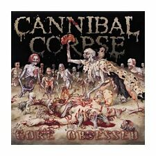 "CANNIBAL CORPSE ""GORE OBSESSED"" VINYL LP LTD REISSUE BACK ON BLACK NEW"