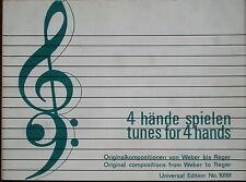 4 Hände spielen Originalkompositionen von Weber bis Reger Universal Edition10191