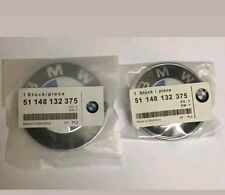 BMW 82mm 74mm Emblem Bonnet Boot Badge Set Hood Trunk E30,E36,E46,3,5,7,X Series