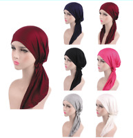 Muslim Women Hijab Cancer Hat Chemo Beanie Cap Hair Loss Head Scarf Turban Wraps