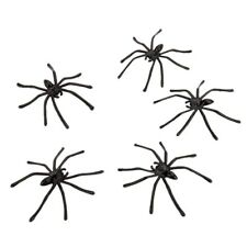 60pcs Halloween Props Indoor Spiders Spooky Plastic Horror Haunted House Loot K3