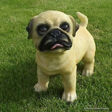 Gartenfigur Hund Mops 3839 Garten Deko Polyresin Figur