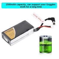 Tattu 2500mAh 2S Lipo Battery Pack w/DC3.5mm Plug for Fatshark Goggles Glasses