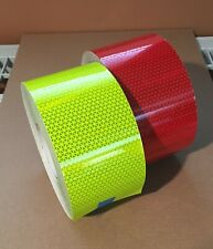 "6"" Red & Lime Reflective Sheeting Fire Truck Emergency Vehicle Safety Tape"