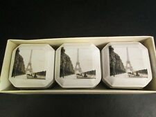 Eiffel Tower Theme Candles, Set of 3 Vanilla Scented Candles, NIB