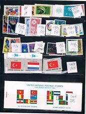 Naciones Unidas. Conjunto de sellos, Hojas Bloques y Carnet