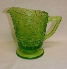 Duncan Miller ~ Lime Green Sandwich Glass Creamer