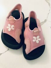 Nike Sunray Baby Toddler Girl Size 4 Water Shoes Sandals Pink/Black Stretchy