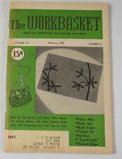 THE WORKBASKET MAGAZINE FEBRUARY 1956 VINTAGE PATTERNS & ADS