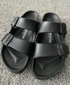 Birkenstock Womens Arizona EVA Narrow Sandals, EU39, Black, EUC
