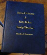 Edward Nykamp & Ruby Elliot Family Histories 2008 Genealogy Free Us Shipping